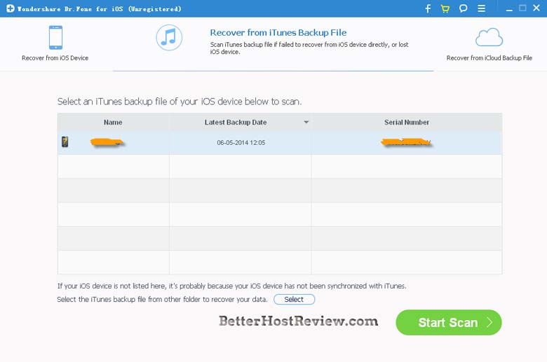 how to find date of back up itunes