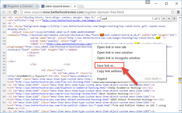 how to save a website when you open crome
