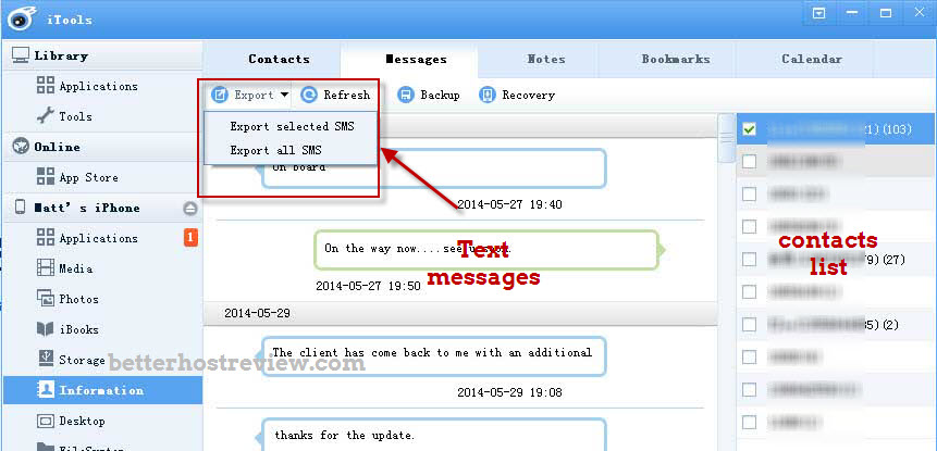 Iphone Sms Export Free