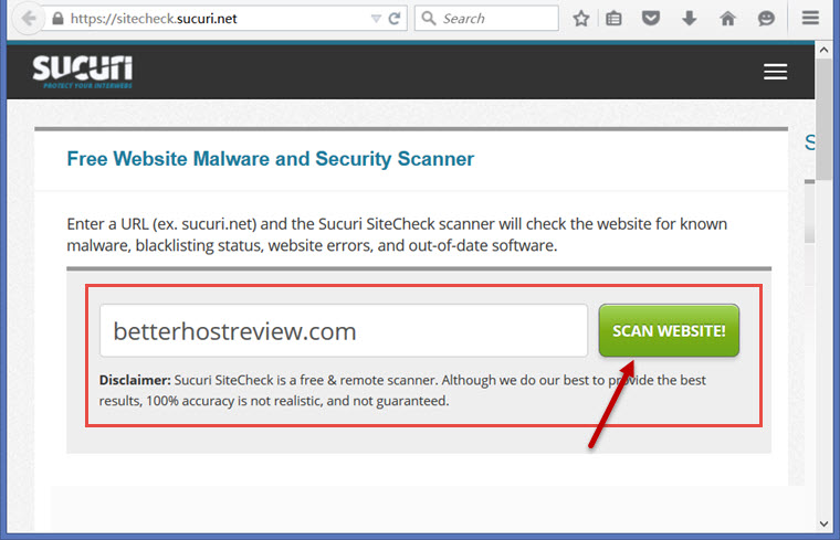 Free online website malware & virus Scanner