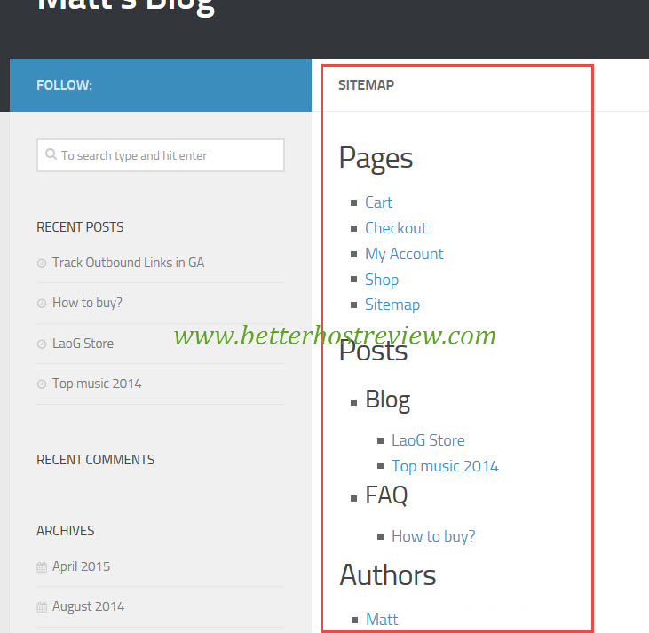An Example Of Html Site Map: How To Create HTML Sitemap For WordPress Manually?